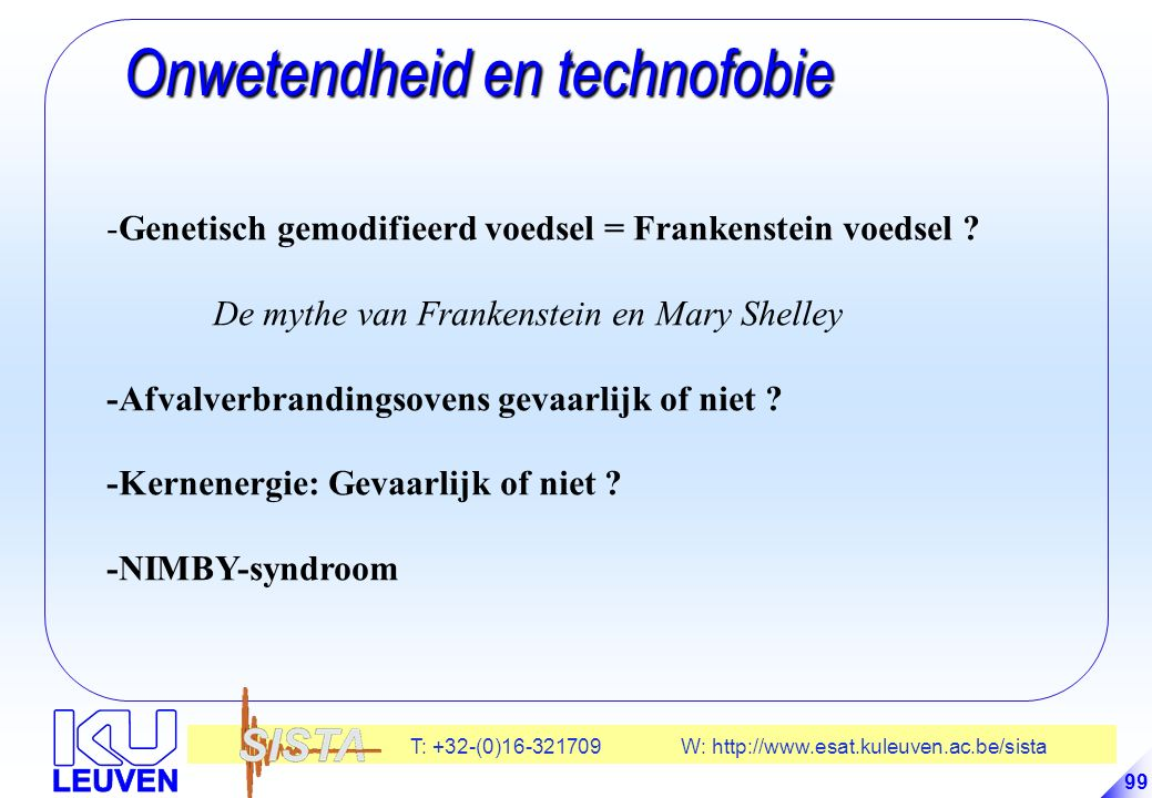 Onwetendheid en technofobie