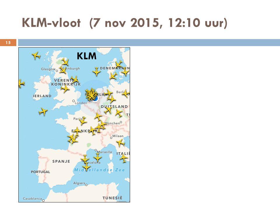 KLM-vloot (7 nov 2015, 12:10 uur) KLM