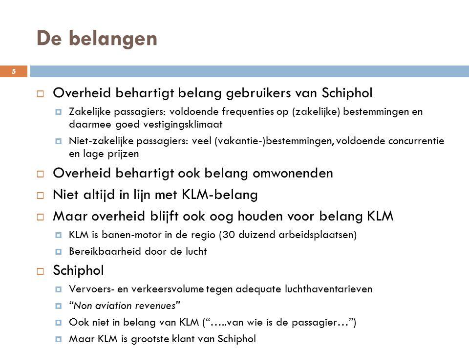 De belangen Overheid behartigt belang gebruikers van Schiphol