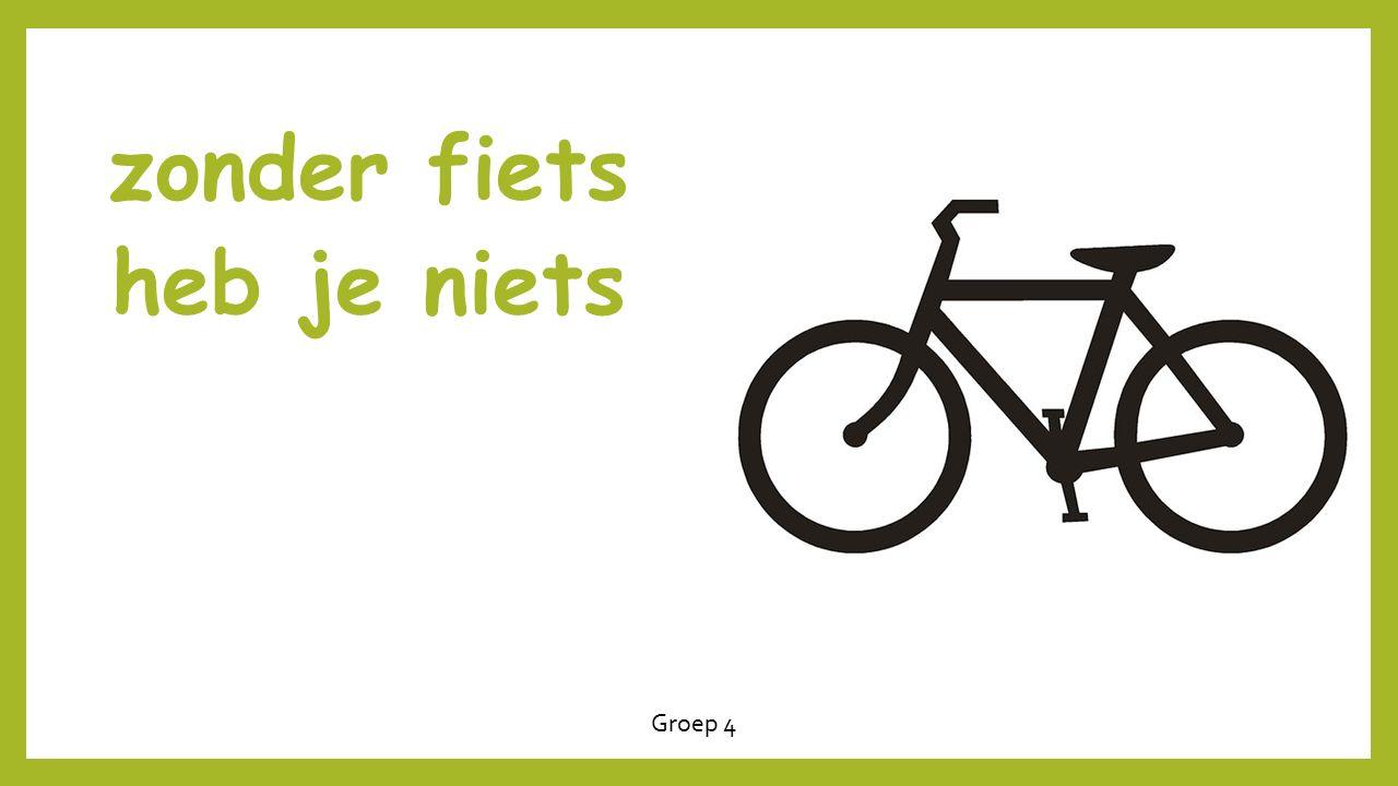 zonder fiets heb je niets