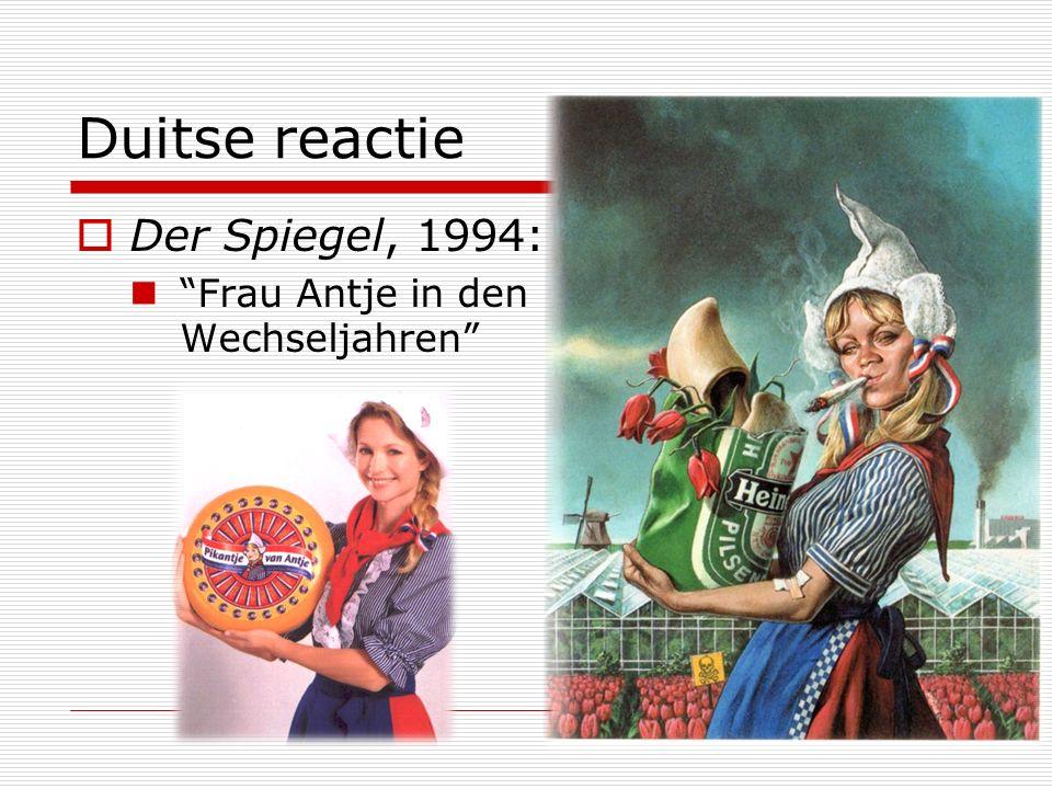 Duitse reactie Der Spiegel, 1994: Frau Antje in den Wechseljahren