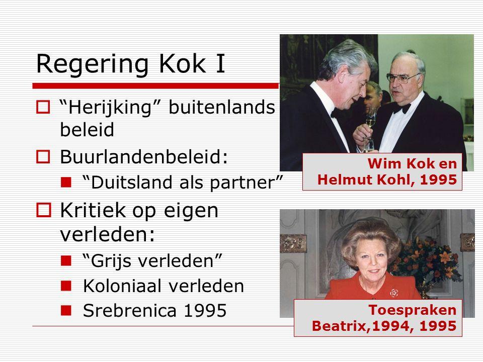 Regering Kok I Kritiek op eigen verleden:
