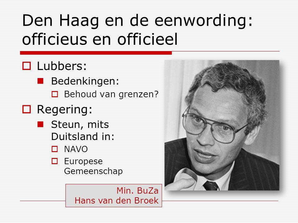Den Haag en de eenwording: officieus en officieel