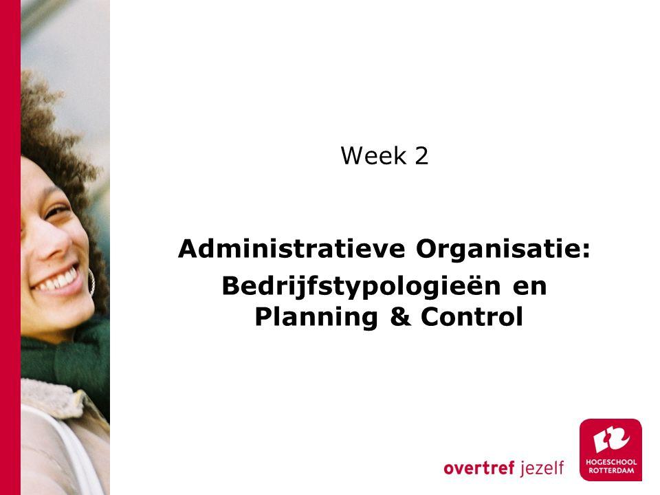 Administratieve Organisatie: Bedrijfstypologieën en Planning & Control