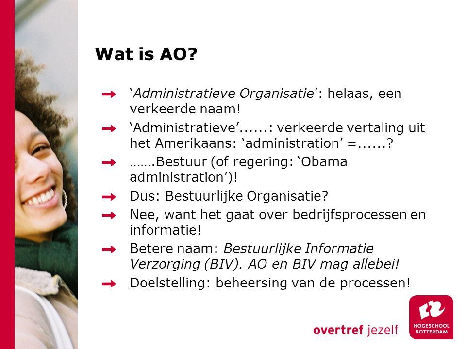 Wat is AO 'Administratieve Organisatie': helaas, een verkeerde naam!