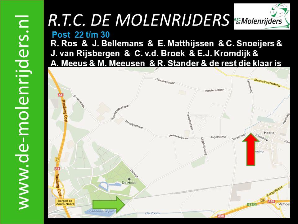 www.de-molenrijders.nl R.T.C. DE MOLENRIJDERS Post 22 t/m 30