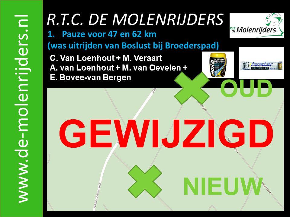 GEWIJZIGD OUD NIEUW www.de-molenrijders.nl R.T.C. DE MOLENRIJDERS