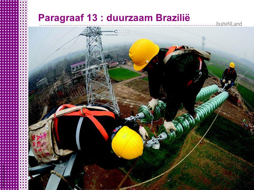 Paragraaf 13 : duurzaam Brazilië