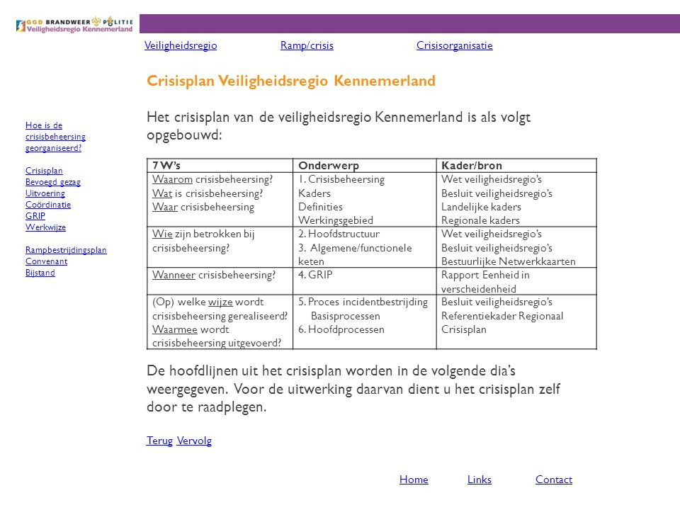 Crisisplan Veiligheidsregio Kennemerland
