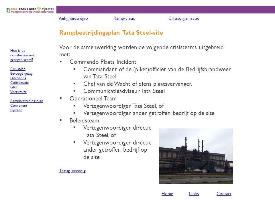 Rampbestrijdingsplan Tata Steel-site