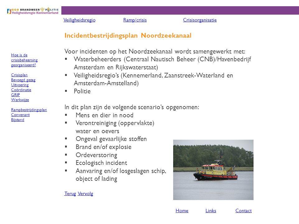 Incidentbestrijdingsplan Noordzeekanaal