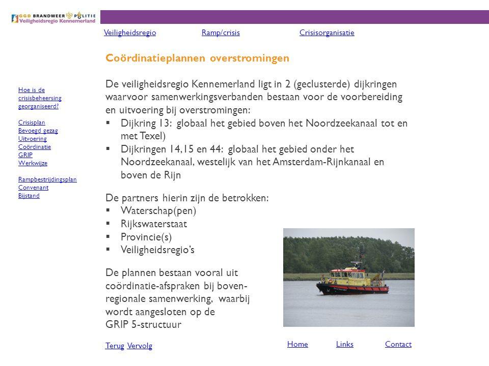 Coördinatieplannen overstromingen