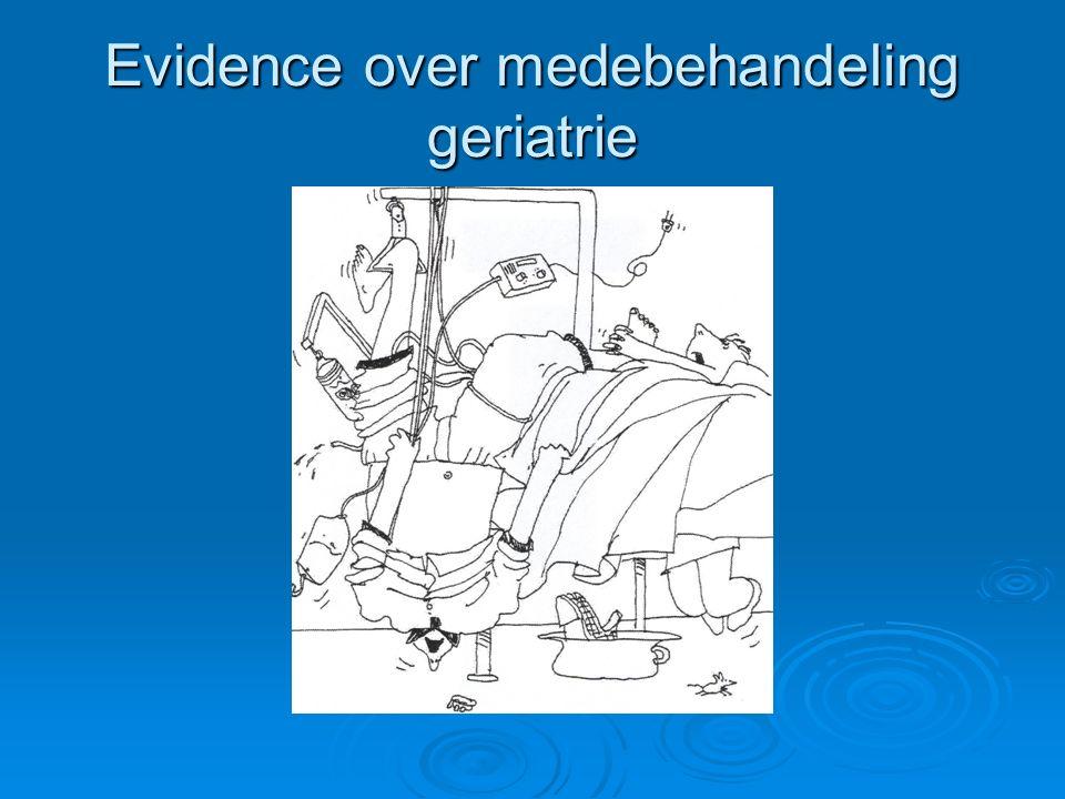 Evidence over medebehandeling geriatrie