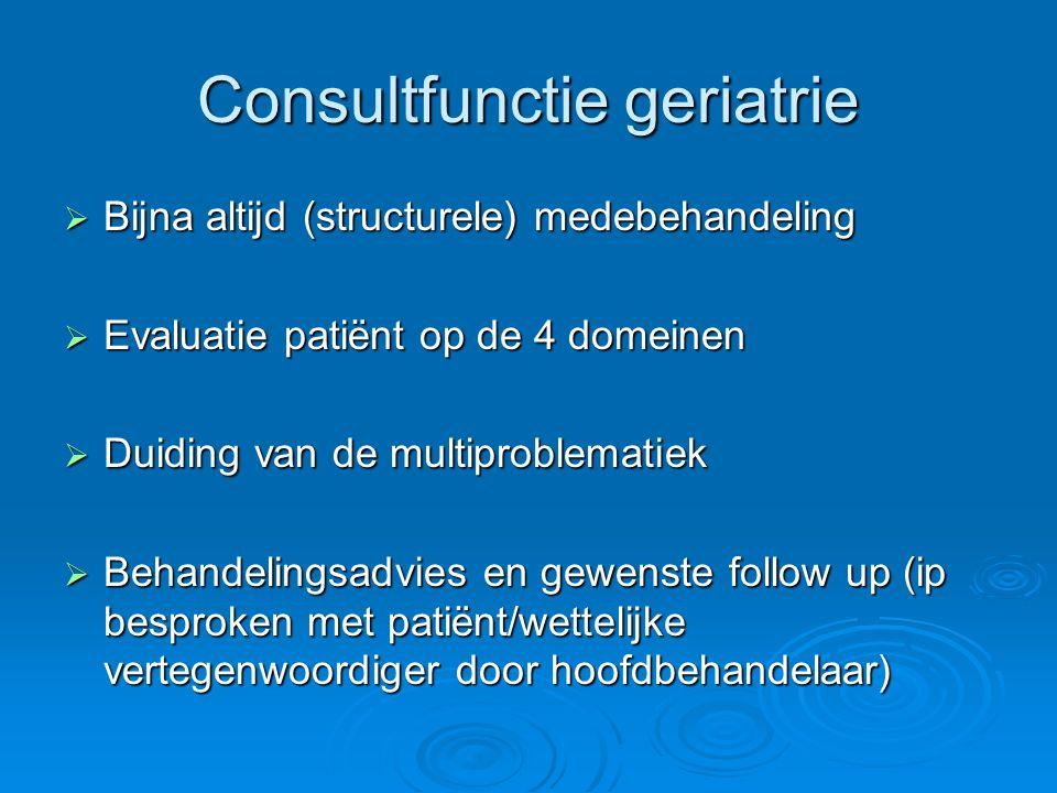 Consultfunctie geriatrie