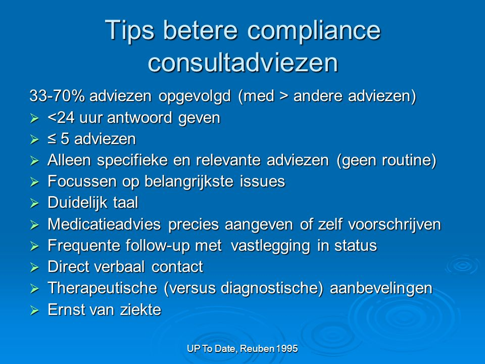 Tips betere compliance consultadviezen
