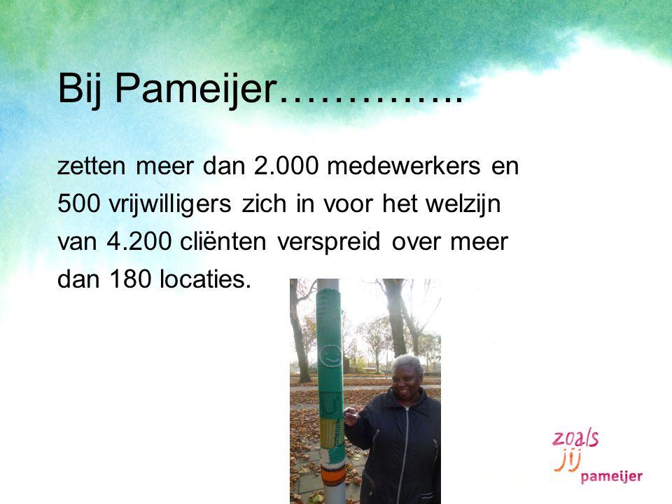 Bij Pameijer………….. zetten meer dan 2.000 medewerkers en