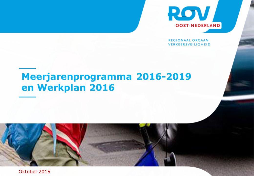 Meerjarenprogramma 2016-2019 en Werkplan 2016 Oktober 2015