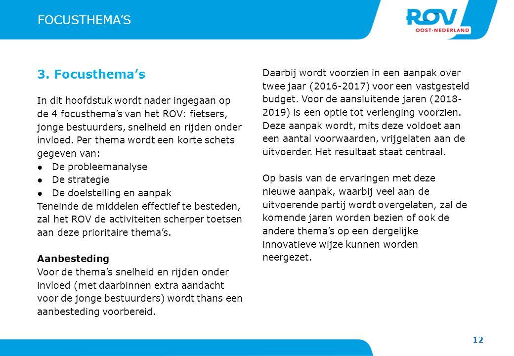FOCUSTHEMA'S 3. Focusthema's