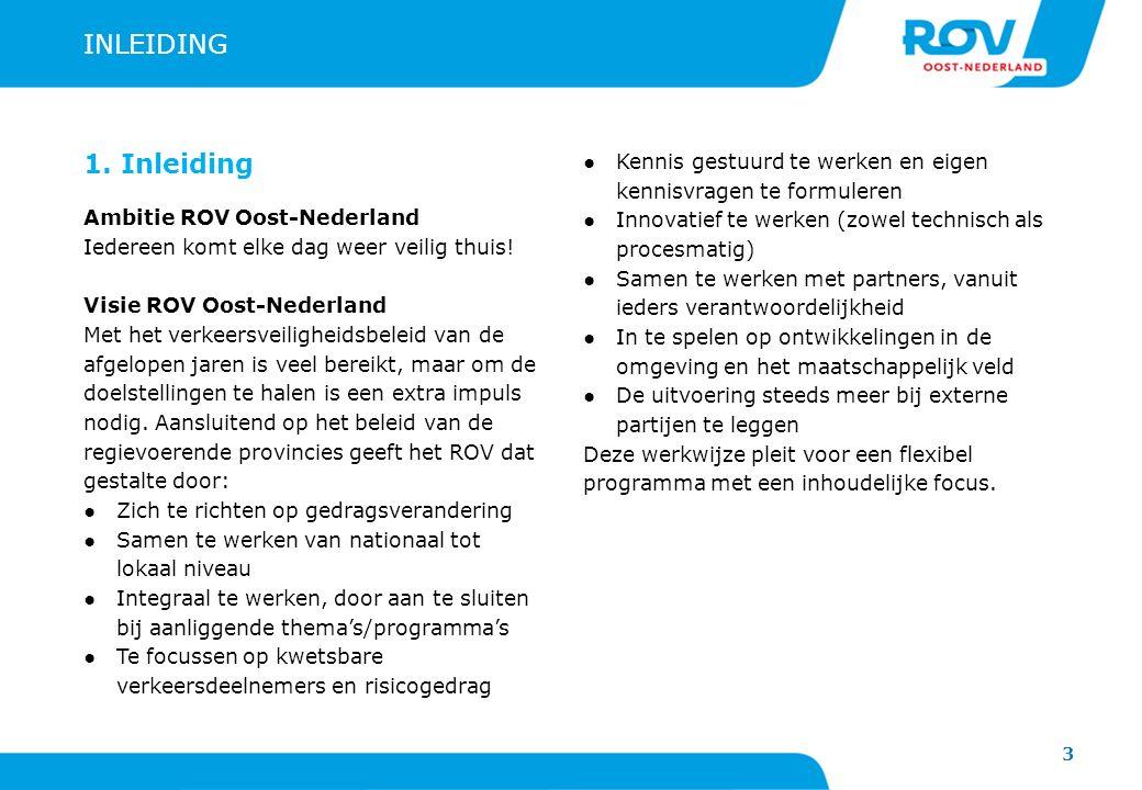 INLEIDING 1. Inleiding. Ambitie ROV Oost-Nederland. Iedereen komt elke dag weer veilig thuis! Visie ROV Oost-Nederland.