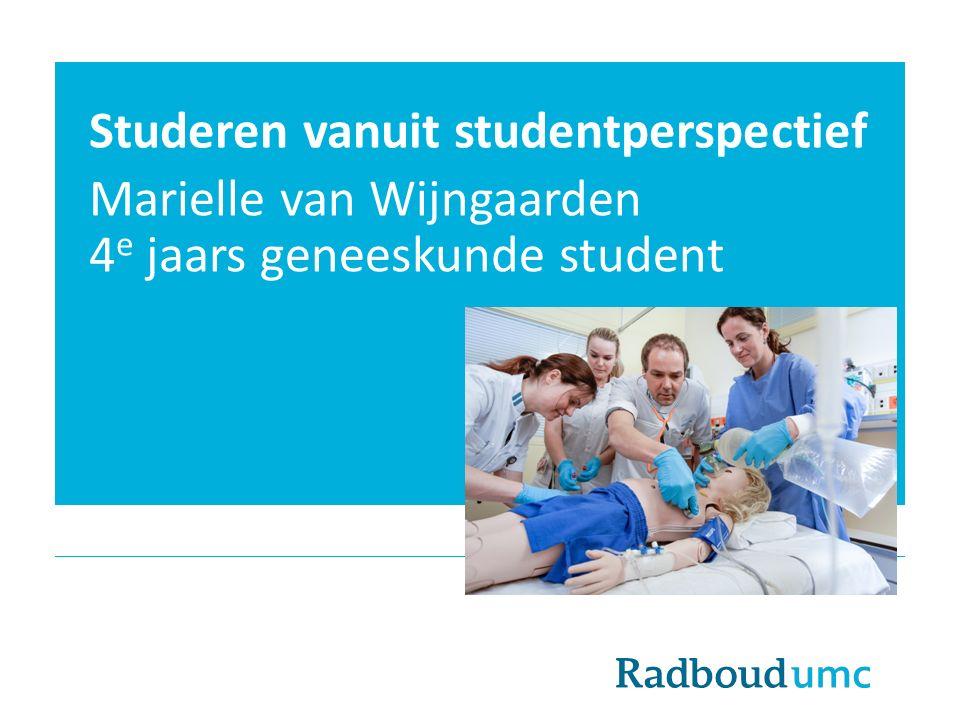 Studeren vanuit studentperspectief
