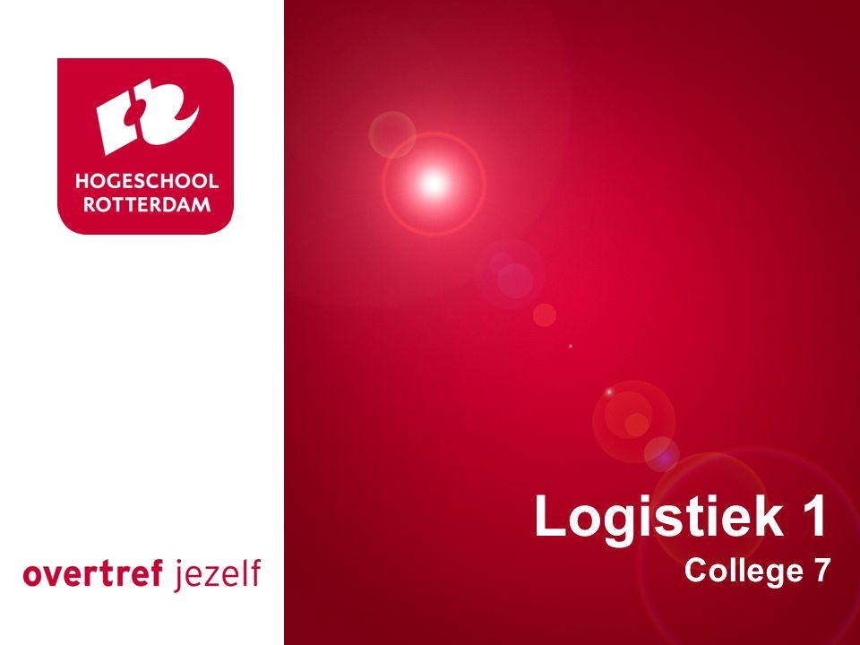 Presentatie titel Logistiek 1 College 7 Rotterdam, 00 januari 2007