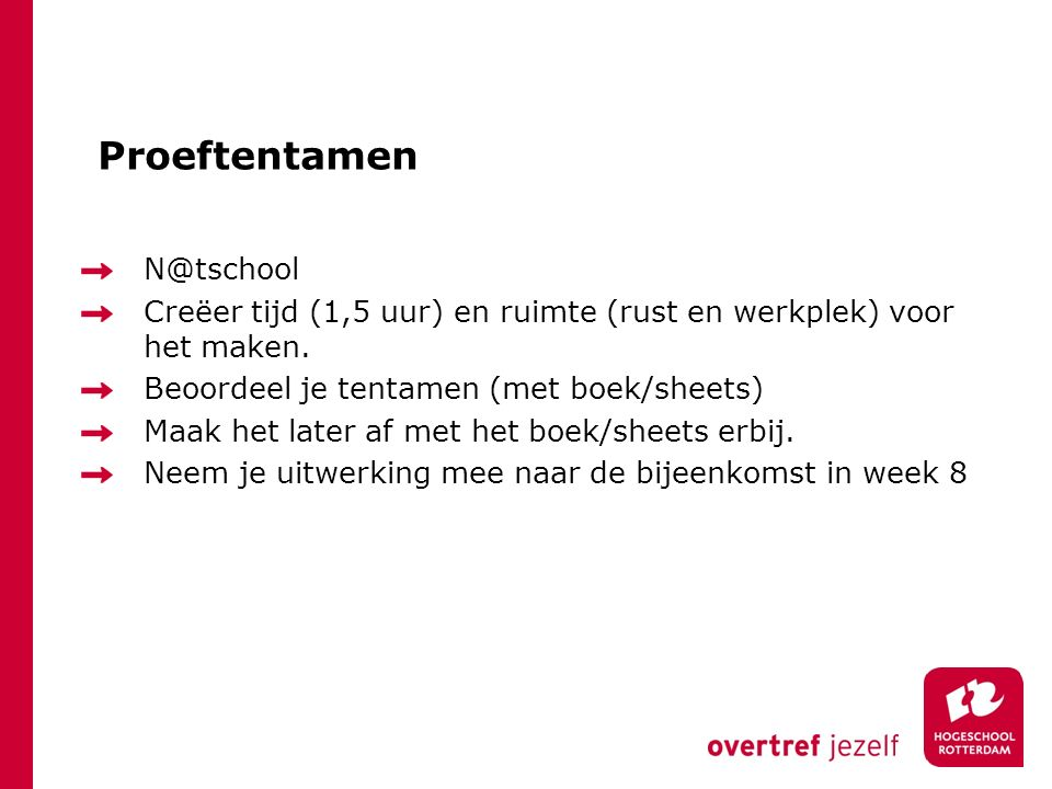 Proeftentamen N@tschool