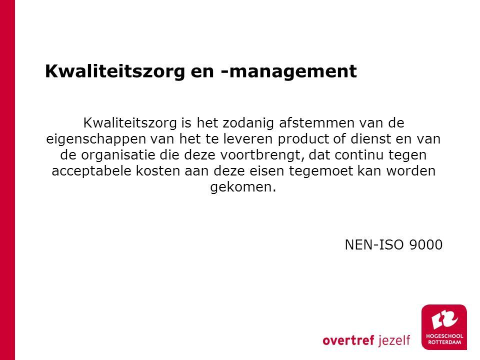 Kwaliteitszorg en -management