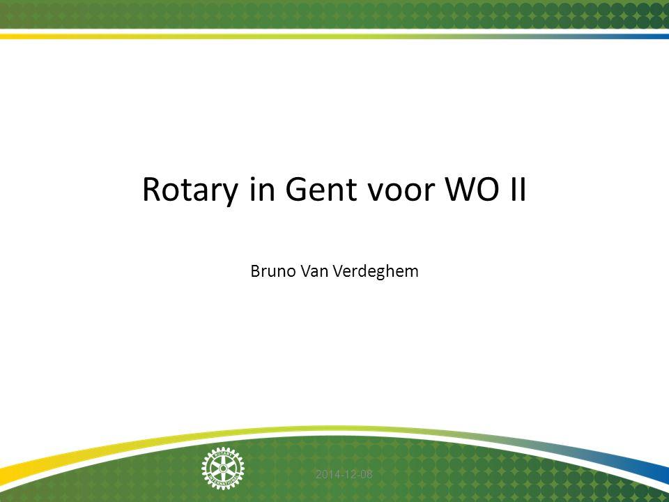 Rotary in Gent voor WO II Bruno Van Verdeghem