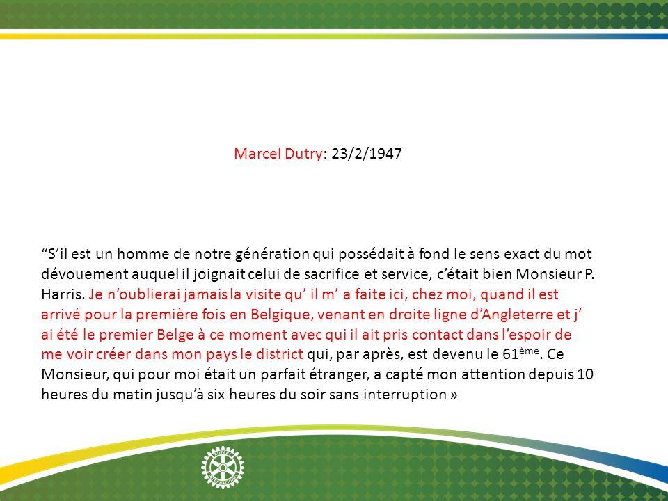 Marcel Dutry: 23/2/1947