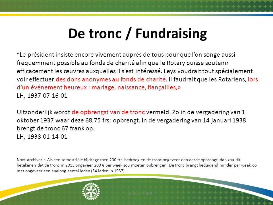 De tronc / Fundraising