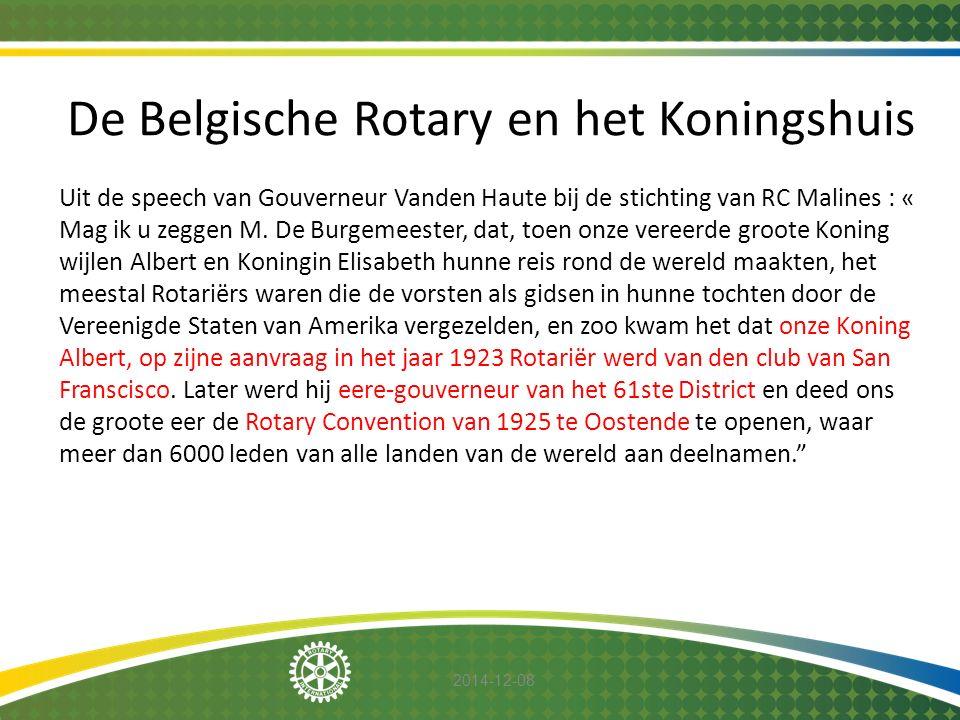De Belgische Rotary en het Koningshuis