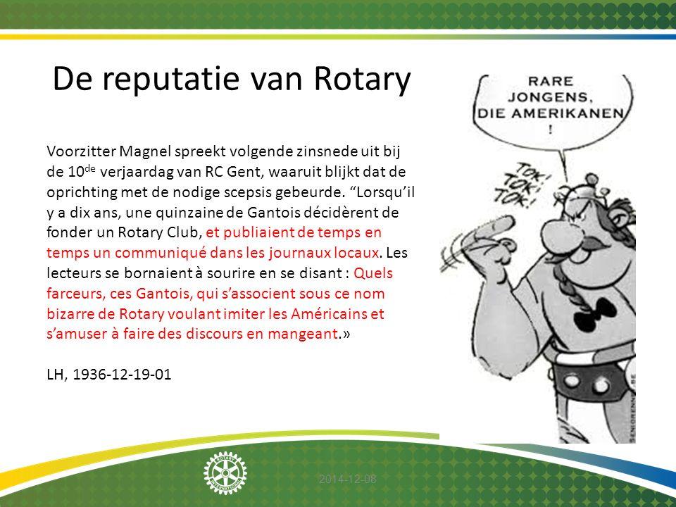 De reputatie van Rotary