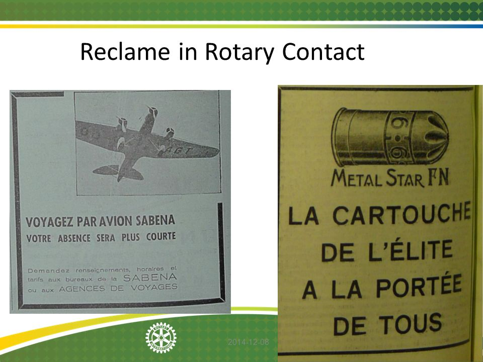 Reclame in Rotary Contact