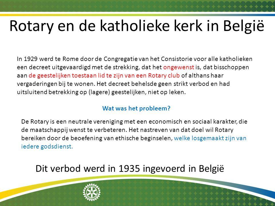Rotary en de katholieke kerk in België