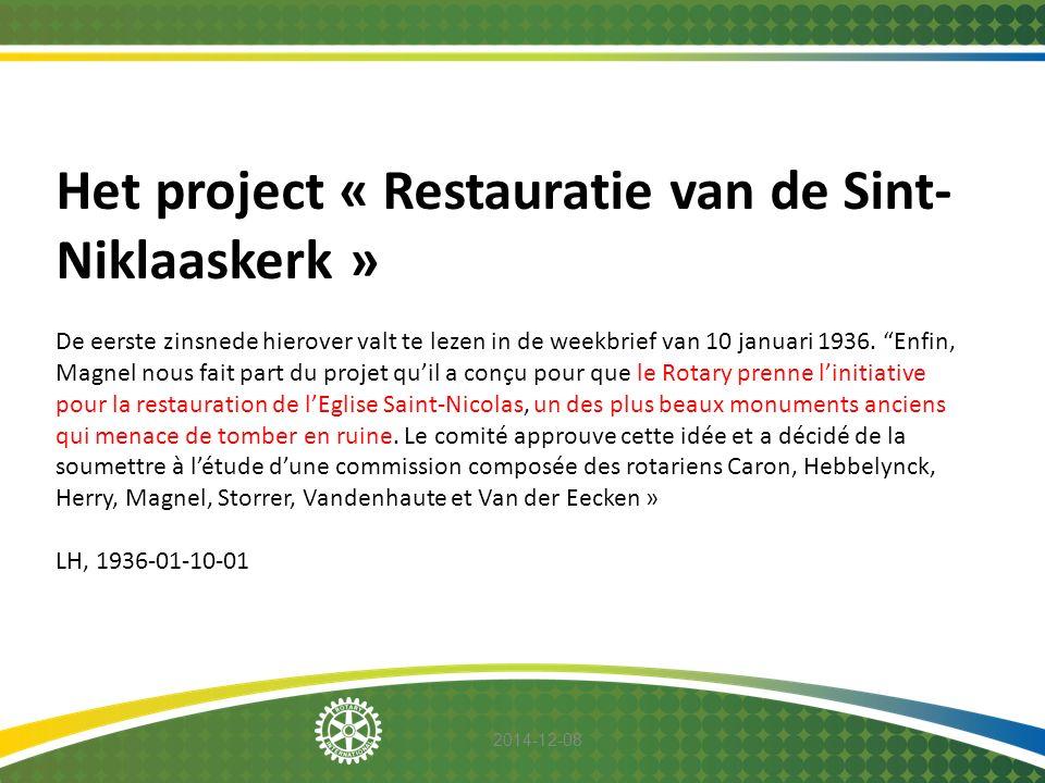 Het project « Restauratie van de Sint-Niklaaskerk »