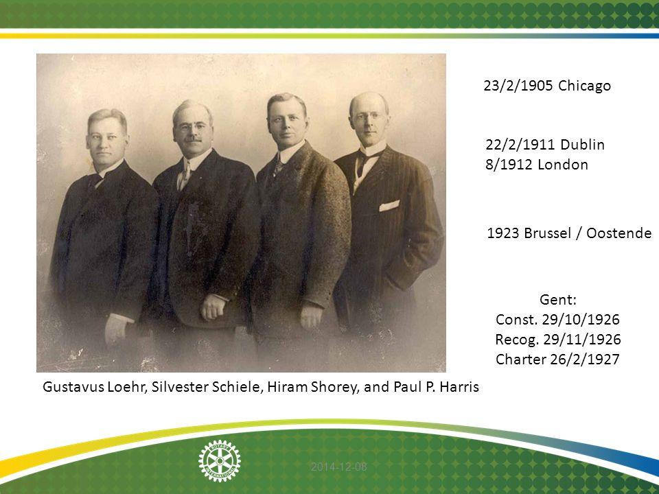Gent: Const. 29/10/1926 Recog. 29/11/1926 Charter 26/2/1927