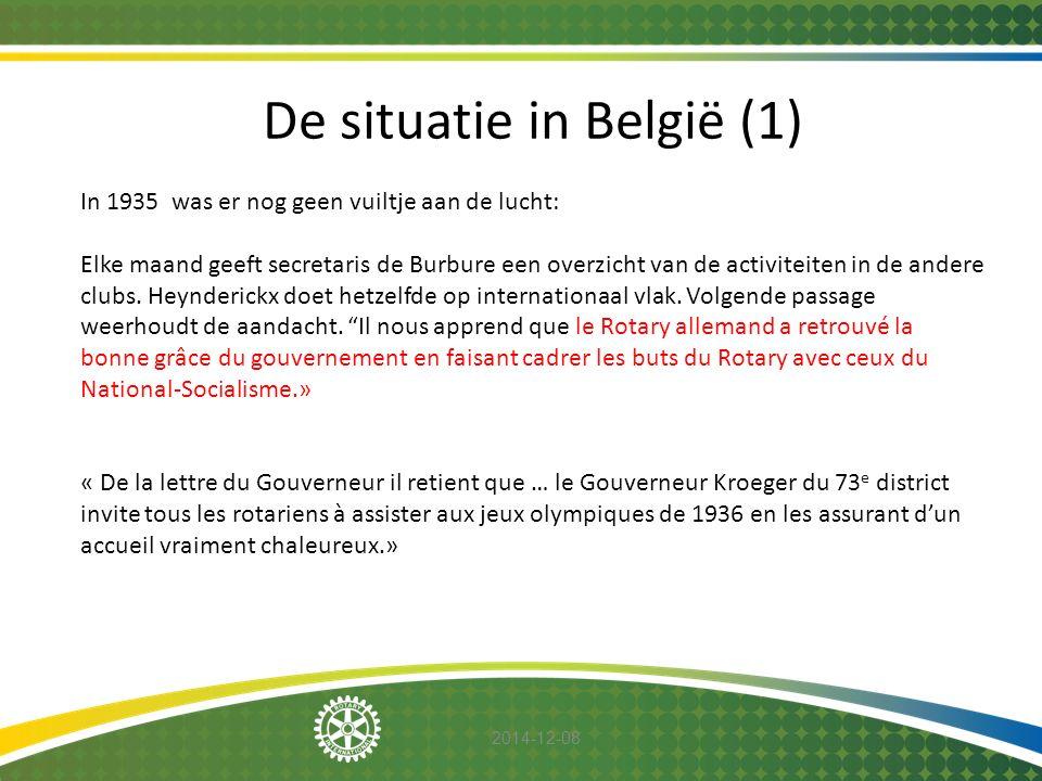 De situatie in België (1)