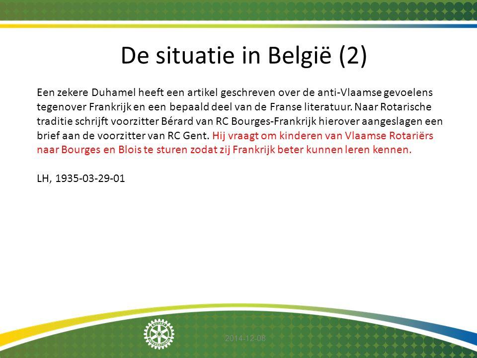 De situatie in België (2)