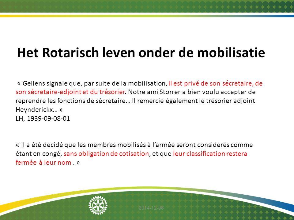 Het Rotarisch leven onder de mobilisatie