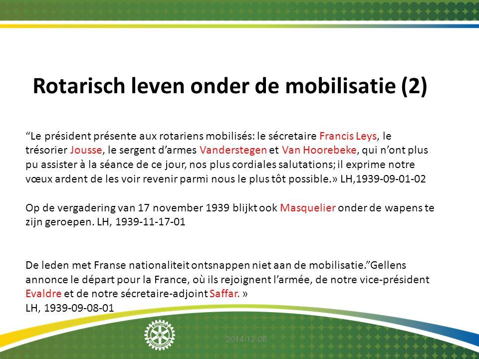 Rotarisch leven onder de mobilisatie (2)