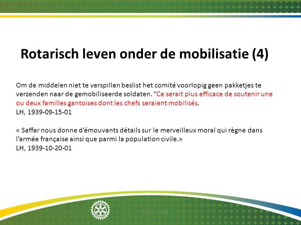 Rotarisch leven onder de mobilisatie (4)