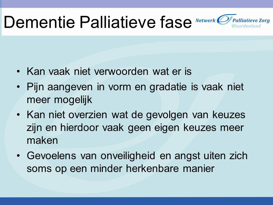 Dementie Palliatieve fase