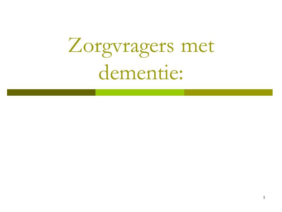 Zorgvragers met dementie: