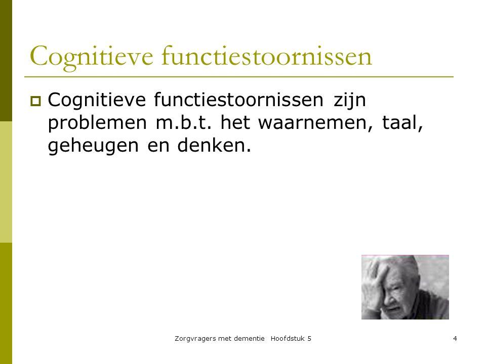 Cognitieve functiestoornissen