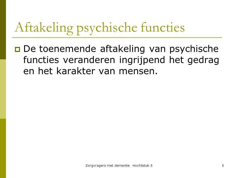 Aftakeling psychische functies