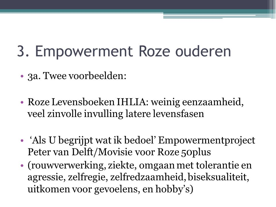 3. Empowerment Roze ouderen
