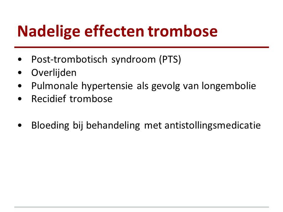 Nadelige effecten trombose