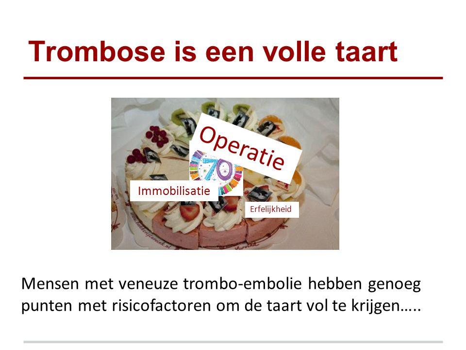 Trombose is een volle taart
