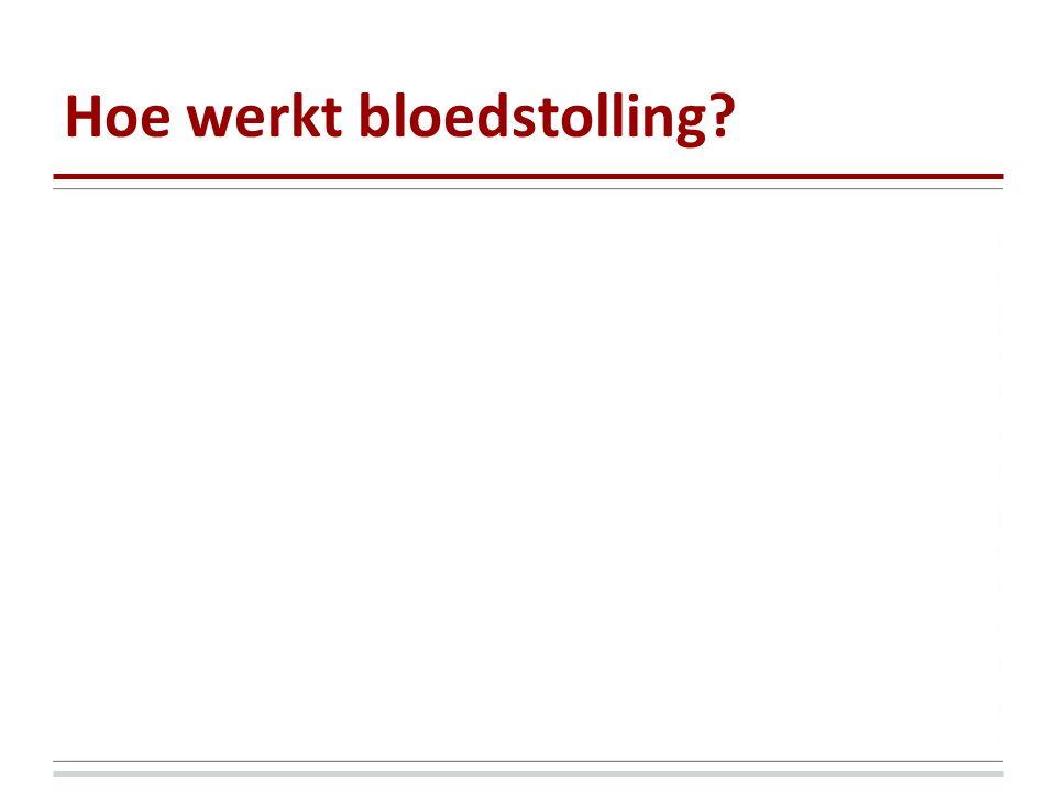 Hoe werkt bloedstolling