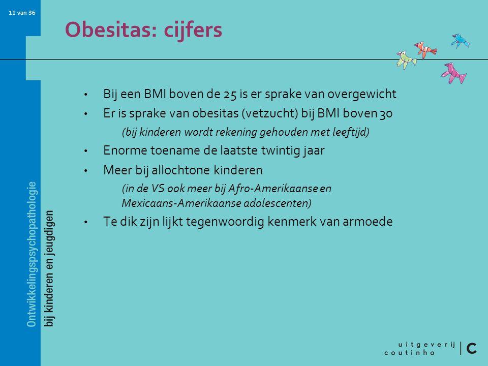Obesitas: cijfers Bij een BMI boven de 25 is er sprake van overgewicht